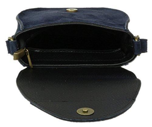 Genuine Navy Oval Girly Bag Suede Flap Girly HandBags Shoulder HandBags BTXqx