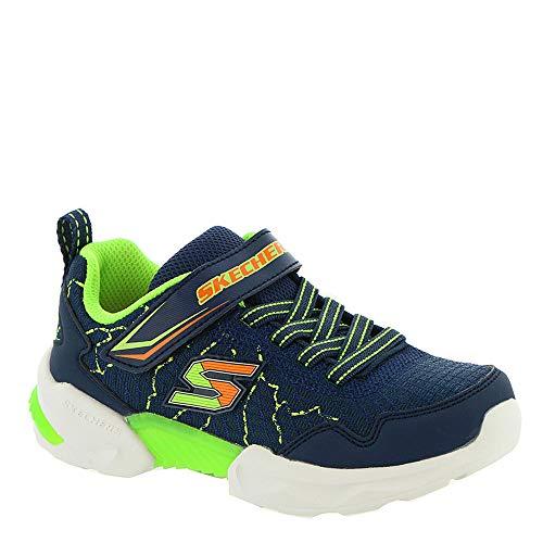 Skechers Techtronix-Power Spike Boys' Toddler-Youth Sneaker 13.5 M US Little Kid Navy-Orange-Lime (Footwear Crackle)