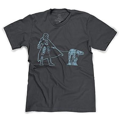 Darth Vader Walking an AT-AT Funny Star Wars Sci-Fi T-Shirt