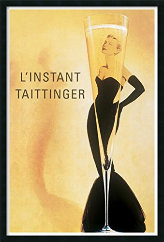(Framed Art Print L'Instant Taittinger by Vintage: Outer Size 25 x 37)