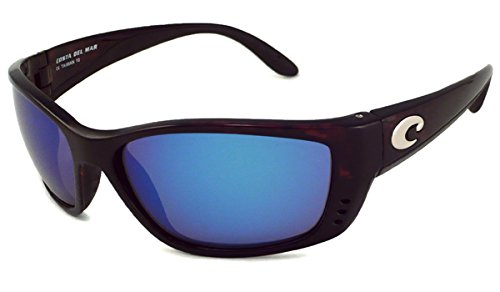 d918595f37 Costa Del Mar Sunglasses - Fisch- Glass   Frame  Tortoise Lens  Polarized  Blue Mirror Wave 580 Glass-FS10BMG580