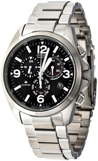 Citizen AS4040-55E - Reloj analógico de Cuarzo para Hombre con Correa de Acero Inoxidable, Color Plateado