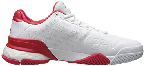 adidas Performance Herren Barricade 2016 Boost Tennisschuhe Weiß / Weiß / Ray Red Fabric
