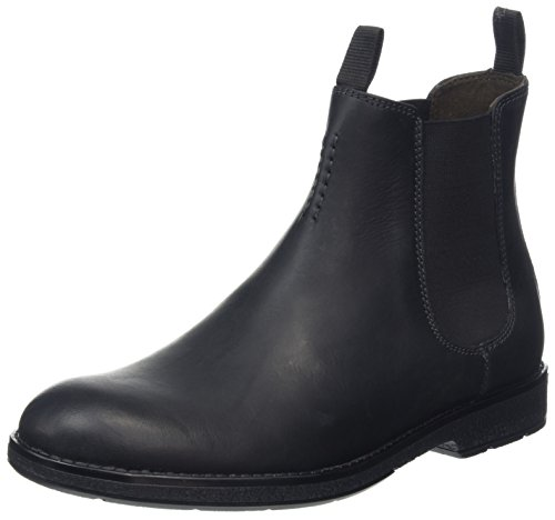 Clarks Hinman, Stivali Chelsea Uomo Nero (Black Leather)
