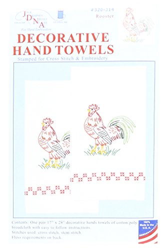 - Jack Dempsey Stamped White Decorative Hand Towel, 17-Inch by 28-Inch, Rooster