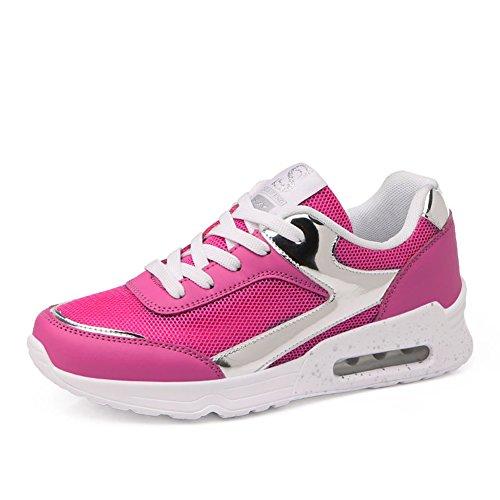 JEDVOO Low Mesh Turnschuhe 35 Damen Laufschuhe Fitness Sportschuhe Pink Top 40 qTqSfr