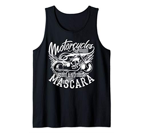 Motorcycles And Mascara Art | Cute Makeup Motor Lover Gift Tank Top ()