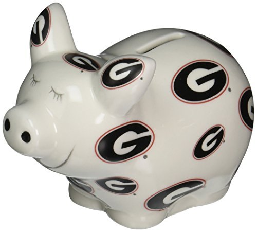 NCAA Georgia Bulldogs Piggy Bank with All Over Logo by Game Day (Georgia Piggy Bank)