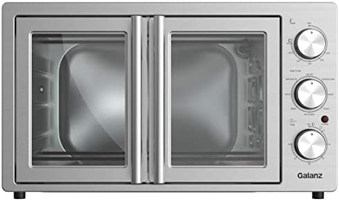 Galanz GFSK215S2MAQ18 French Door Toaster Oven with OverallFry 360 (Enhanced Air Fry Technology) 1800W/120V, 1.5 Cu.Ft Capacity, 8 Cooking Functions, 42L Manual, Stainless Steel