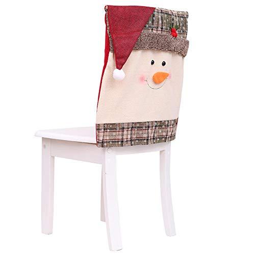 Bloomma 2/4/8 Fundas para Silla de Comedor de Navidad Cubiertas de Gorro de Santa Claus Articulo de Decoracion de Mesa para Celebracion Navidad Accesorio de Adorno para Fiesta y Cena