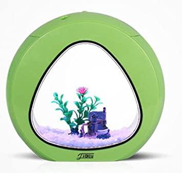 Jil Sander Kit Acuario Circular 13L Completo - Mini Acuario - Acuario Circular - Bola Color Verde: Amazon.es: Productos para mascotas