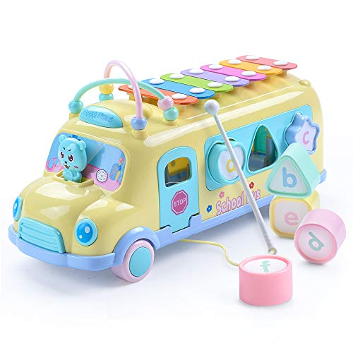 Juboury School Bus Toy, Learning...