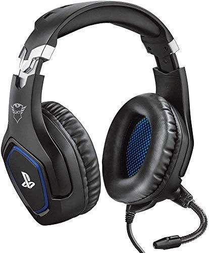 Trust Gaming Cascos PS4 y PS5 Auriculares de Gaming GXT 488 Forze, Licencia Oficial para PlayStation, Micrófono Plegable…
