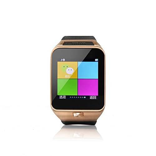 Qkking 2015 Newest 1.54 Inch 2.0MP GV10 Smart Anti-lost Bluetooth VER 3.0 Smart Watch Support Monitoring, Health Monitoring, Social Entertainment, Tracking / Alarm, Pedometer,Information Push, Intelligent Alerts, Remote Self-timer, Motion Tracking, Entertainment, Sleep Analysis, Pobile Positioning for Andriod / ISO / WindowsMobile / Symbian / Blackberry Phone Smartphones-Golden