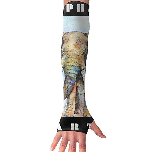 Sports Compression Arm Sleeve Mosaic Art Elephant Skull Nature Spirit?-2 Fashion ZHONGRANINC
