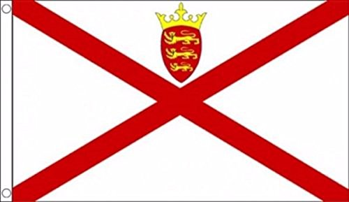 Jersey Channel Islands Flag 5'x3'  - Woven Polyester