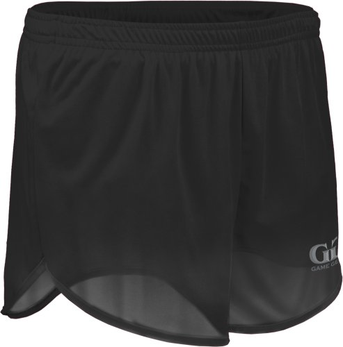 "TR403 Men's 5"" Single Ply Ultra-Light Run Tech Short-Breathability and Moisture Control. Great for Marathons, Iron Man, and Track and Field Events-Black, Green, Purple, Gold, Orange, and Red-Sizes XS-3X (Large, Black)"