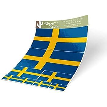2pcs Sweden Flag Car Front Grille Grill Emblem Badge Decal Sticker Volvo Saab