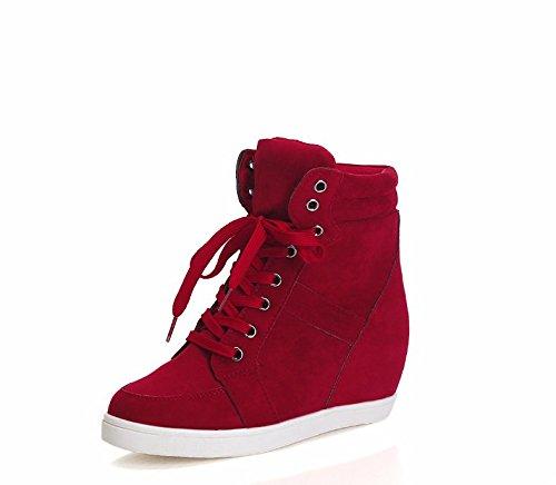 tela plano cabeza Thirty alto six de gules respaldo damas encajes Zapatos zapatos fondo 36 redonda color de sólido de de qgZwEYF