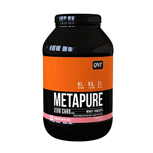 QNT Metapure Zero Carb 1000 g Strawberry and Banana Lean Muscle Growth...