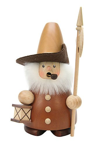 German Incense Smoker Nightwatchman natural - 17cm / 7 inch - Christian Ulbricht