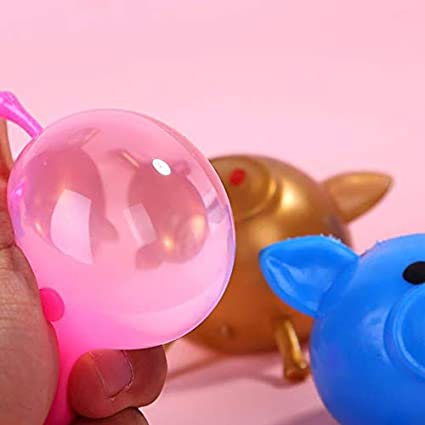 Sunnymal Solid Color Pig Anti Stress Water Ball Decompression Toy Flexible Soft