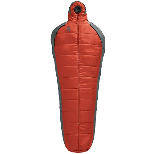 Sierra Designs Mobile Mummy 40 Degree Sleeping Bag, Pompeian Red/Smoked Pearl, Regular - Smoked Design