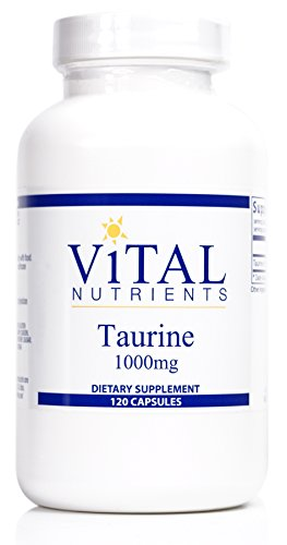 Vital Nutrients - Taurine 1000 mg - Supports Healthy Heart Function - 120 Capsules