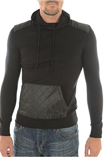 Biaggio Jeans Herren Strickjacke schwarz schwarz