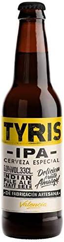 Cerveza artesana Tyris IPA- Pack 24 botellas x 330 ml