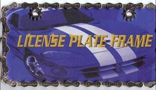 Bike Chain License Plate Frame Free Screw Caps Included