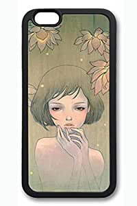 Anime Gril 06 Slim Soft For Iphone 6 4.7 Inch Case Cover Case Hard shell Black Cases