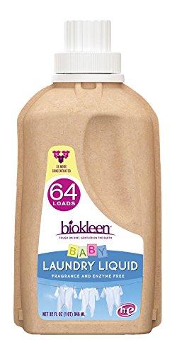Biokleen Laundry Liquid, Baby, 32 oz - 64 HE Loads/32 Standard Loads