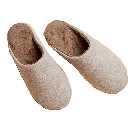 Blubi Mens Uomo Caldo Peluche Mens Casa Pantofole Pantofole Comfort Pantofole Invernali Grigio