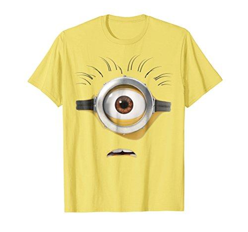 Despicable Me Minions Stuart Scared Face Graphic T-Shirt]()