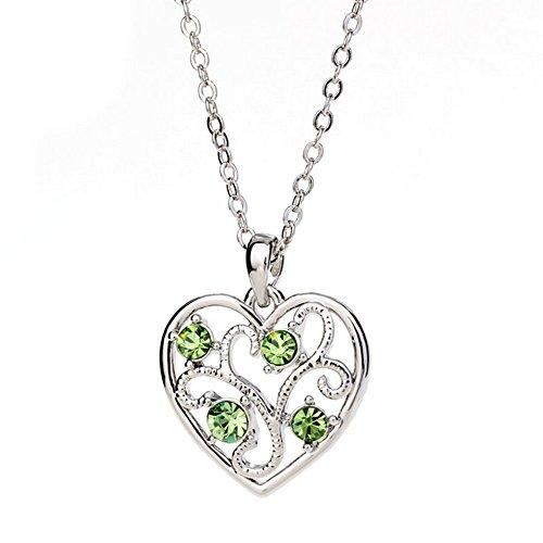 Winter's Secret Fashion Color Hollow Love Heart Tree Shape Cross Chain Silver (Mirabella Valance)