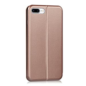 kwmobile Leatherette flip cover for Apple iPhone 7 Plus / 8 Plus - Full Cover Case fold-down top in rose gold