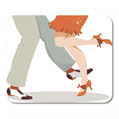 Emvency Mouse Pads Shoes Dance Legs of Couple in 1920S and Footwear Dancing The Charleston No Transparencies 8 Swing 20S Mouse Pad 9.5