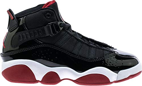 (Jordan 6 Rings Black/Varsity Red-White (PS) (11.5 M US Little Kid))
