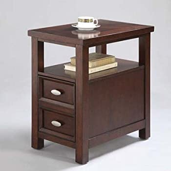 Amazon Com Adf Chair Side Table With 1 Drawer Cherry