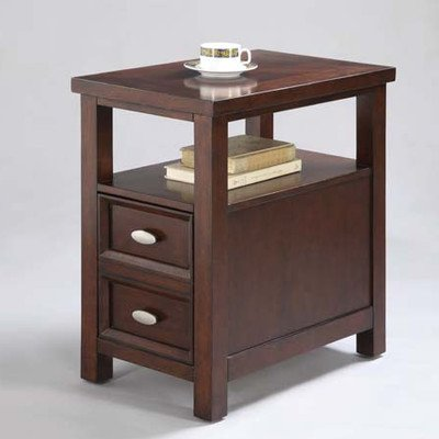 ADF Chair Side Table with 1-Drawer, Cherry Finish