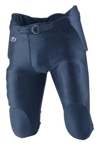 (Rawlings F2500P Youth Integrated Football Pants (Navy, Large) )