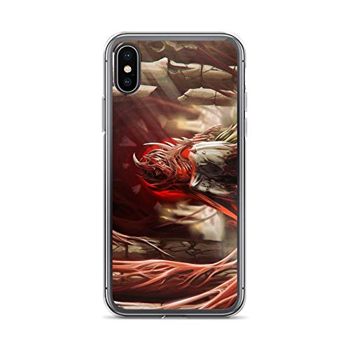 iPhone X/XS Case Anti-Scratch Phantasy Imagination Transparent Cases Cover Bloody Terror Fantasy Dream Crystal Clear -