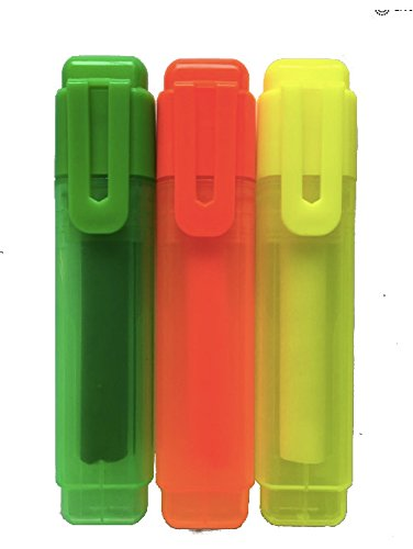 Colors, Yellow, Green, Pink 3/Pack Special Highlighters