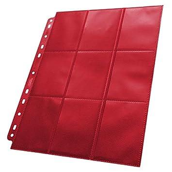 10 Pack Ultimate Guard White 18 Pocket Side Loading Pages Card Storage Binder Portfolio Pages