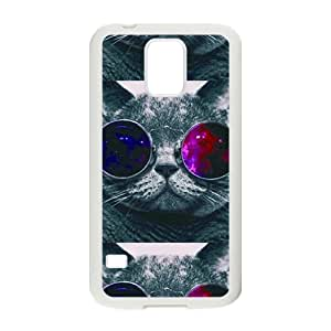 VOV Colorful glasses cat Cell Phone Case for Samsung Galaxy S5