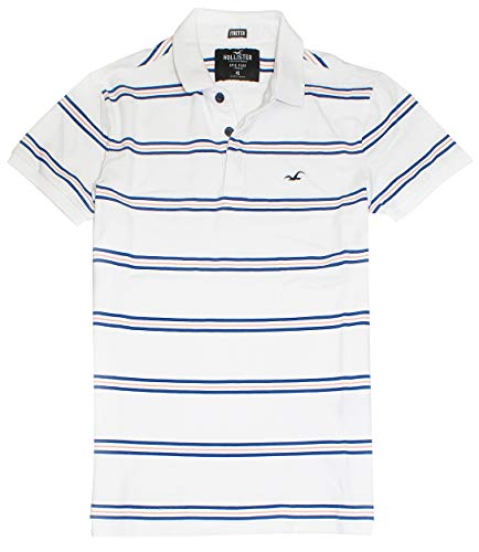 Hollister Men's Flex Pique Stretch Polo Shirt HOM-3 (Medium, 0401-104)