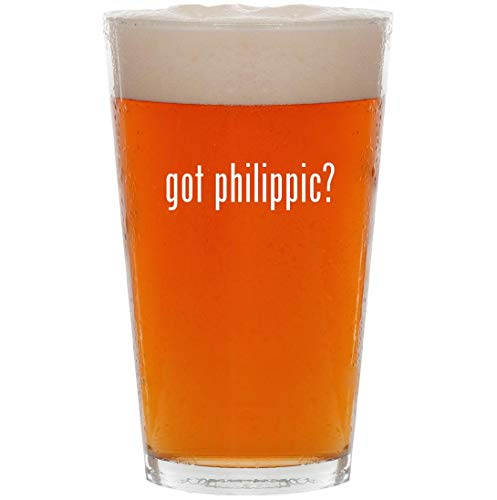 (got philippic? - 16oz All Purpose Pint Beer Glass)