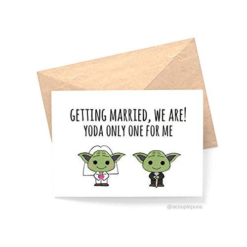 Amazon.com  Yoda Only One For Me Wedding   Funny Wedding Card cf196b342