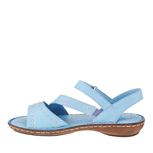 RelaxShoe Livorno Strappy Sandals Sky r2ZdgJ